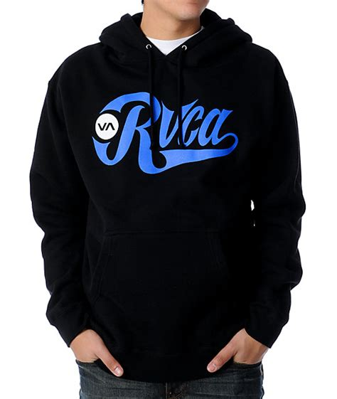 Hoodie Rvca Boombers rvca bombers 2 black pullover hoodie