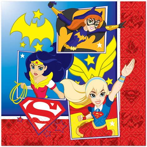 dc super hero girls lunch napkin super hero party