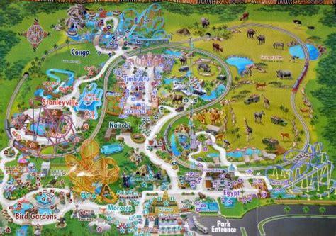 busch gardens map tampa