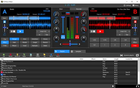 download mp3 dj music dj music mixer full featured dj software beat mxing to