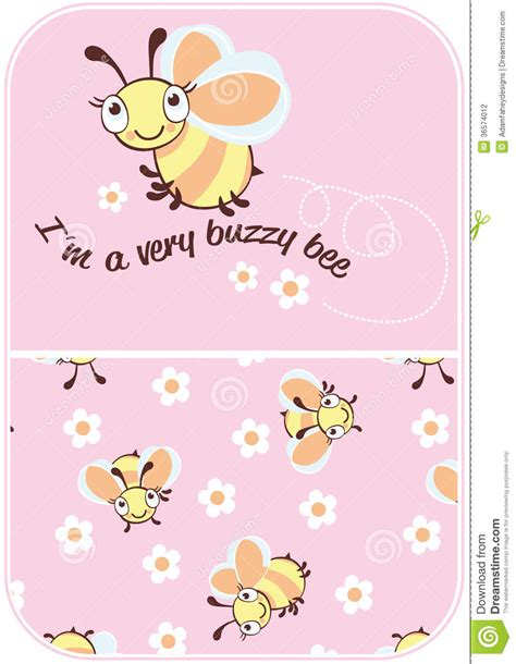 vector pattern matching buzzy bee stock photography image 36574012