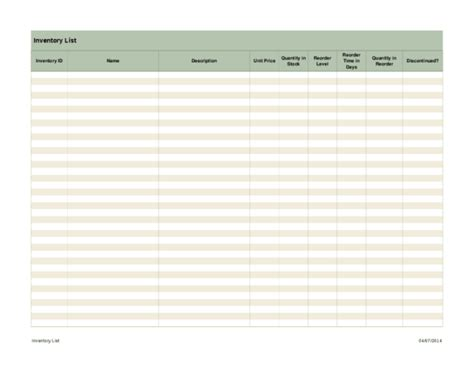 inventory list excel spreadsheet template sle helloalive