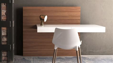 desk attached to wall arya wall mounted desk white lacquer on walnut back
