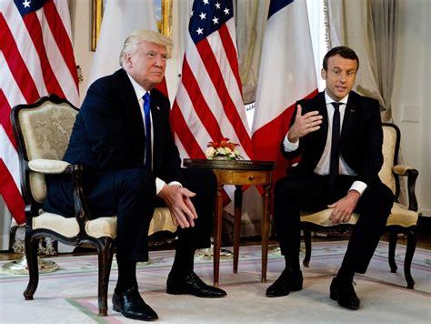 emmanuel macron socks trump handshake showdown france s macron just won t let go