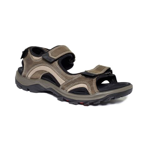 ecco sandals mens ecco offroad lite sandals in brown for warm grey moon