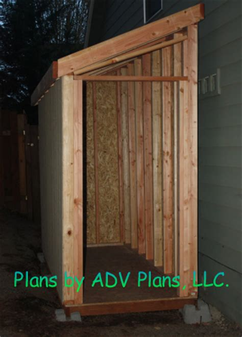 4 X 10 Shed Plans by 4x10 Slant Roof Shed Plans Small Building Plans Step By