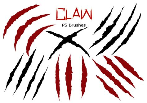20 claw scratch ps brushes abr vol 5 free photoshop