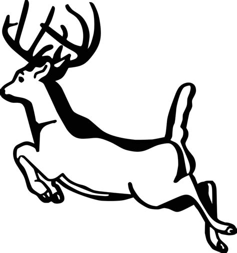 running deer coloring page running deer decal vinyl wall deer sticker 8 quot x8 quot hunting 7