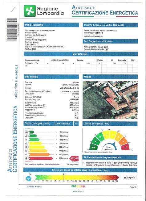 certificato energetico appartamento appartamento cantalupo certificato energetico