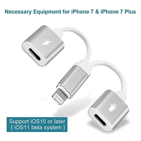 iphone splitter iphone 7 adapter splitter lightning headphone audio charge cable support
