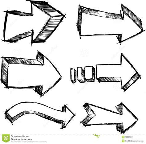 free doodle arrow vector sketchy arrow set vector stock vector image of vector