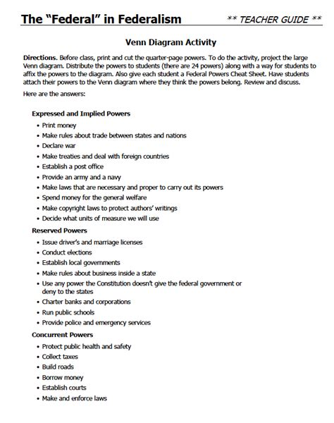 Flocabulary Worksheet Answers by Pictures Federalism Worksheets Getadating