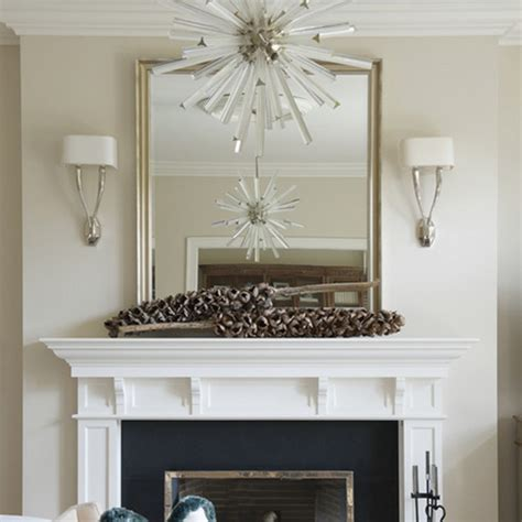 Custom Sized Mirror Over Fireplace Mantle