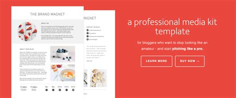 the brand magnet media kit template feast