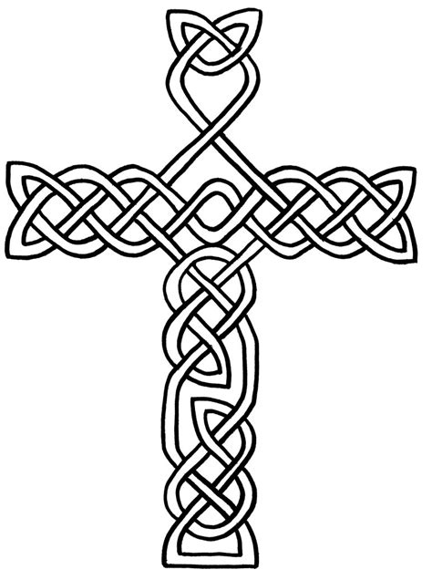coloring pages for adults crosses free printable celtic cross coloring pages clipart best