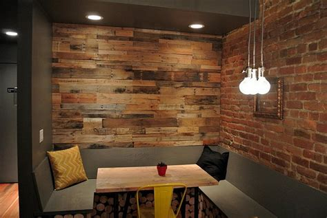 wood pallet wall for hotter home interior decor