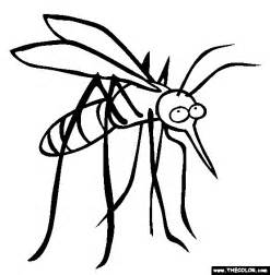 Mosquito Coloring Page  Free Online sketch template