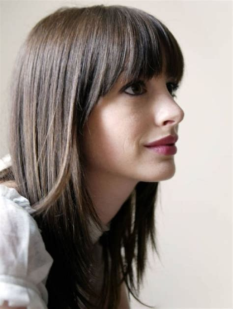 Hairstyles For Hair With Bangs by 25 Best Ideas About Hathaway Bangs On