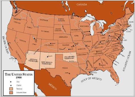 map of the united states history the united states in 1900