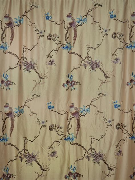 franklin curtains franklin light apricot embroidered branch faux silk custom