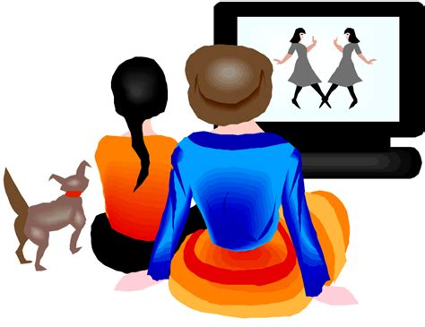 film cartoon girl watching tv clipart clipart panda free clipart images
