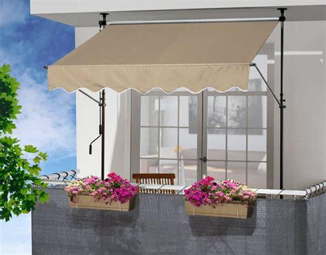 balkon klemm markise klemm markise balkon gallery of x m beige profilfarbe wei