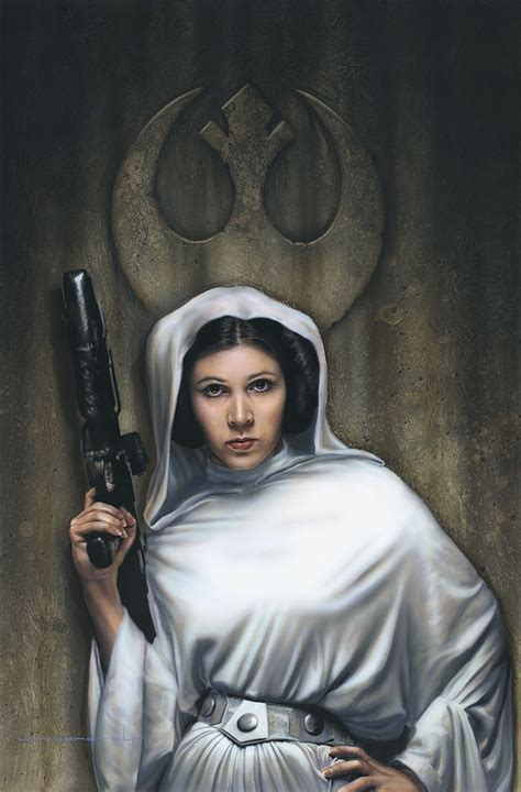 princess leia portrait by jerry vanderstelt starwars