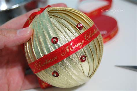diy ornaments ribbon handmade ribbon wrapped ornament diy