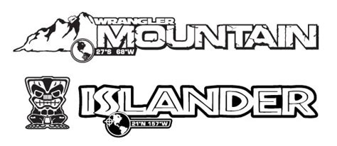 jeep islander logo low key replacement mountain and islander decals