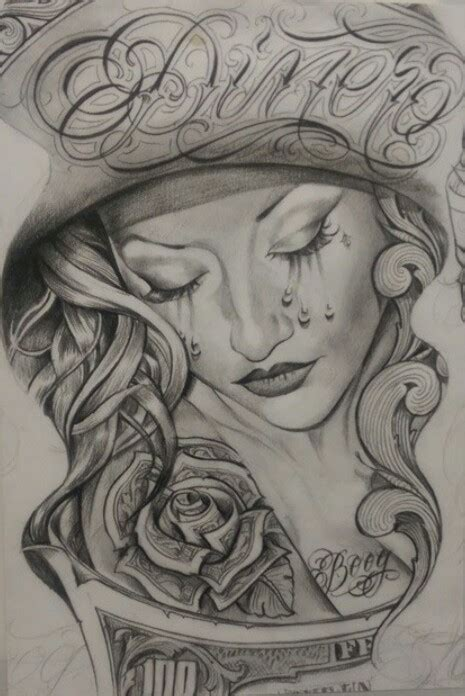 latino art tattoo designs boog chicano dollarone drawing tattoo pattern s