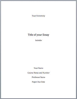 how to write a cover page for a paper cover pages research paper and writing an essay on