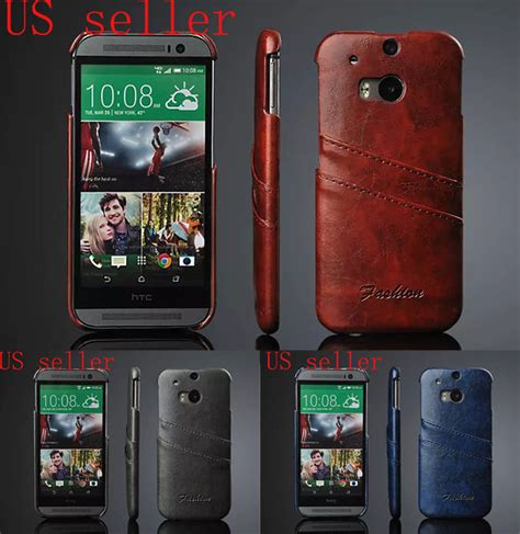 Casing Kesing Htc M8 luxury wax pu leather wallet credit card slot back cover for htc one m8 ebay