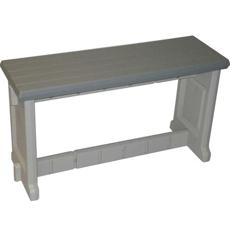 pvc bench 36 inch plastic patio bench in outdoor benches
