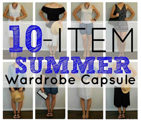 Ten Item Wardrobe - create a 10 item summer wardrobe capsule simple made pretty