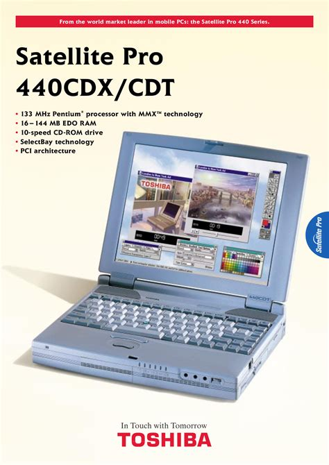 free pdf for toshiba satellite pro 440cdx laptop manual