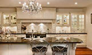 Kitchens With Stone Backsplash Table White French Country Style White French Country