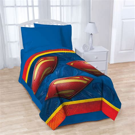 superman quot man of steel quot reversible comforter and sheet set