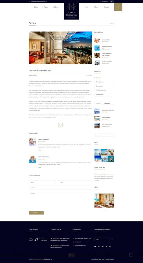website template luxury hotels and carousels on pinterest the supreme luxury hotel resort psd template by