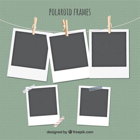 polaroid photo design polaroid frames set vector premium download