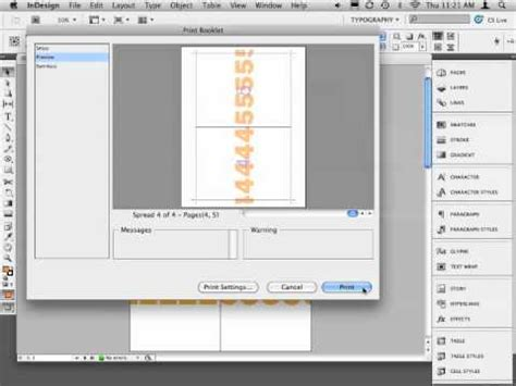 how to print to booklet in indesign book design doovi indesign print booklet to pdf youtube