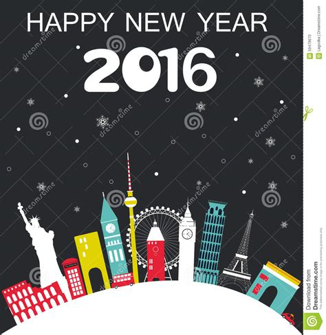Happy New Year Lets Visit Asia happy new year travel background stock vector