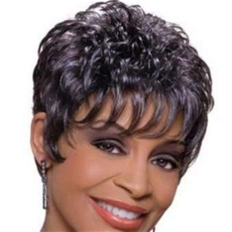 gray hair pieces for african american women 8 inch multi function short curly gray african american
