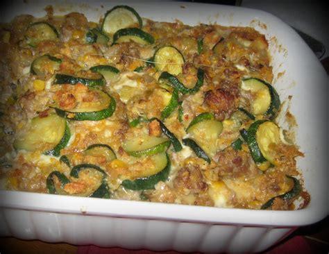 sausage zucchini casserole frugal feasts