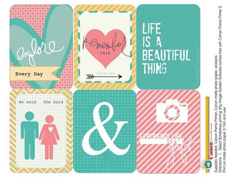 printable planner cards 108 best free printable project life and journaling cards