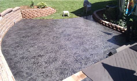 cost of poured concrete patio house folly sc
