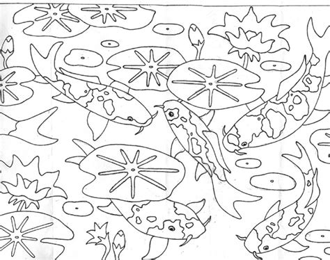 Free Pond Animals Coloring Pages Pond Coloring Page