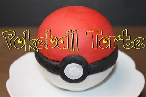 pokeball torte selber machen  motivtorten mit fondant