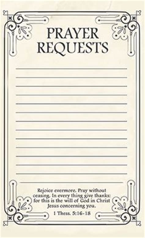free printable prayer request forms printable prayers
