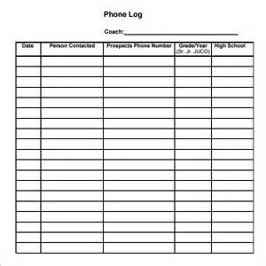 phone log template phone log template 8 free pdf doc