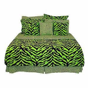 zebra bed sets size lime green zebra print bed in a bag set